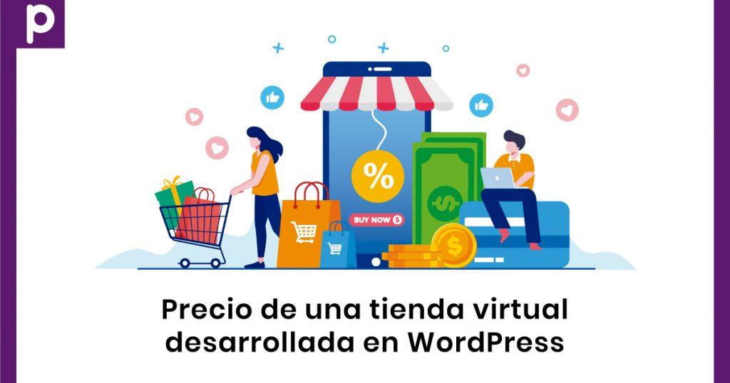 Precio de una tienda online desarrollada en WordPress